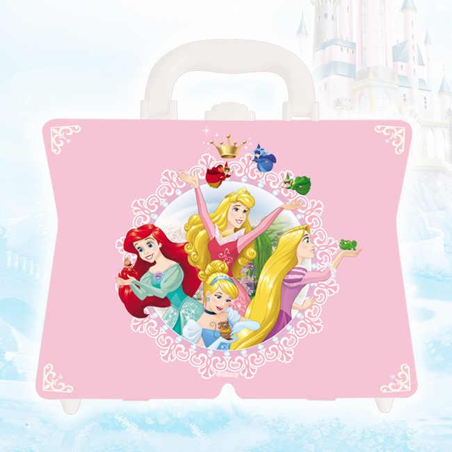 Disney Beleza Moda Brinquedos Pretend Play festa princesa mini mala de cosméticos de maquiagem lavagem de brinquedo das crianças meninas miúdos brinquedos