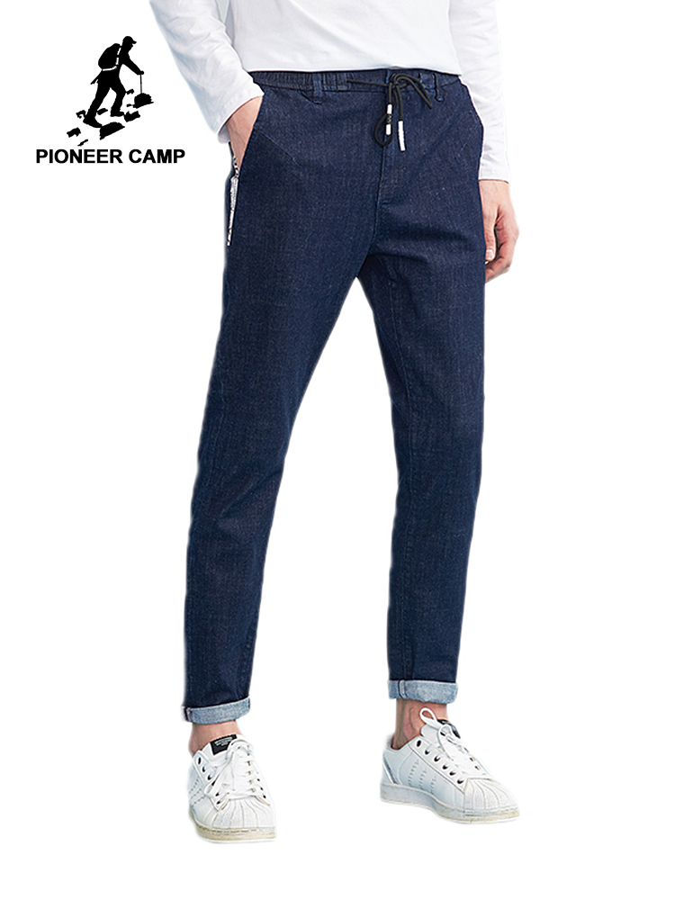 Pioneer camp new   jeans   pants mens brand clothing webbing design fashion trousers for men quality denim   jeans   male blue ANZ803106