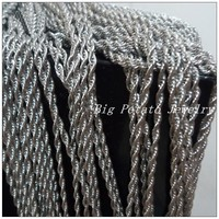 20 Meter 3 8MM Wholesale Fashion Jewelry 316L Stainless Steel Silver Rope Chain Mens Boys Necklace