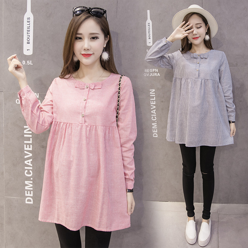 Woman Top Cotton Pregnant Woman T shirt Long Casual Pregnancy Clothes Large Size Maternity Wear Vestido in Tees from Mother Kids