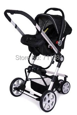 Us 645 0 Black Red Green 3 Color Luxury Baby Carrinho 3 In 1 Aluminum Baby Prams 3 In 1 With Carry Cot And Safty Seat Baby Pushchairs In Three