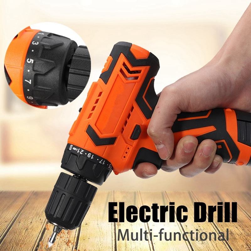 Best Price Electric Drill 12V Cordless Hammer Drills Two Gear Mini Screwdriver Driver Power Tools Electric Drilling Li Battery cordless 12v electric drill screwdriver two speed screw driver power tools with 18 gear torque for handling screws drilling