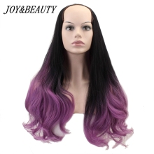 JOY&BEAUTY U Part Wigs 7 Clips In Long Wavy Hair Synthetic