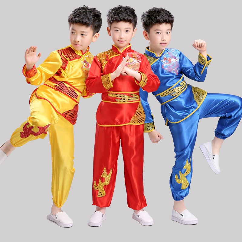 Children Boy Clothes Ballroom Performance Clothing Children Martial Arts Clothing Boys Competition Practice Clothes Dancewear