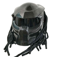Capacete Personalizado Predator Helm Man Casco Moto Helm Man Iron Man Helm Handwerk Koolstofvezel Glasvezel Shell