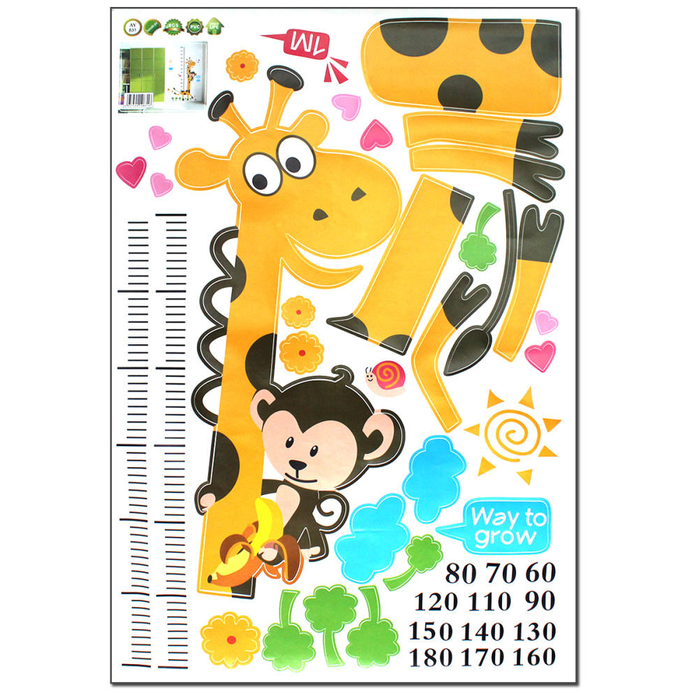 Children kid room height measurement growth chart wall sticker children kid room height measurement growth chart wall sticker cartoon giraffe animal poster home decal decoration wallpaper in wall stickers from home nvjuhfo Choice Image