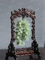Natural jade jade ornaments jade carved jade pendant grape stone decoration