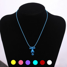 New Korean Cute Jewelry Fashion Cat Pendant Necklace For Women Wholesale Hot In White Purple Red Blue