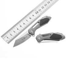 M390 Satin Blade Titanium Handle Knife Pocket Twosun TS35 Small Fire Ant Flipper Folding Hunting Survival Outdoor Tools