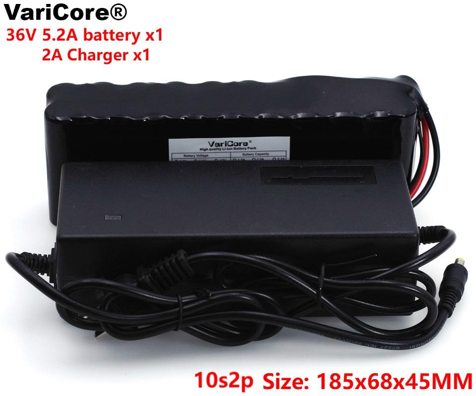 VariCore 36 V 5.2Ah 10S2P 18650 batterie Rechargeable vélo modifiés, véhicule électrique 42 V Protection PCB + 2A chargeur