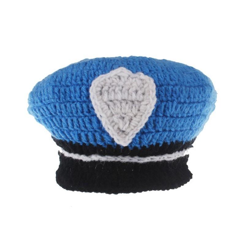 Crochet nouveau né garçon marin chapeau bonnet photo props