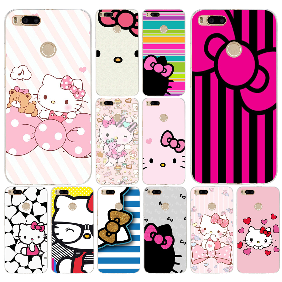 76a Fashionable Hello Kitty Silicone Soft Tpu Cover Phone Case For Xiaomi Redmi 4a 6a 4x Note 5a Pro Mi A1 Half Wrapped Cases Aliexpress