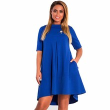 Women Half Sleeve Female Collar Short Mini Dresses Autumn Loose Evening Party Dress