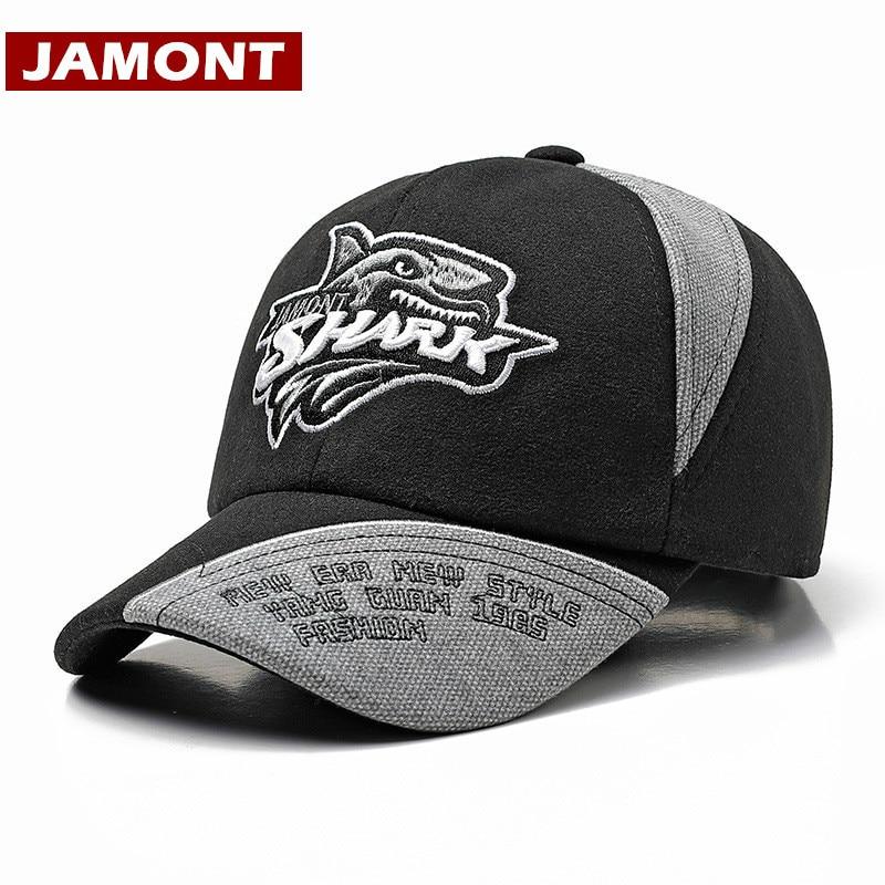 [JAMONT] New Shark Series Kids Baseball Cap Winter Snapback Hats Warm Cartoon Kids Bomber Hat Boy Girl Outdoor Hat Gorras
