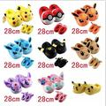 Pokemon Ball Go Pikachu  Eevee Slippers Adult Children Cotton Home Slippers Winter Warm Shoes Indoor Christmas Slippers