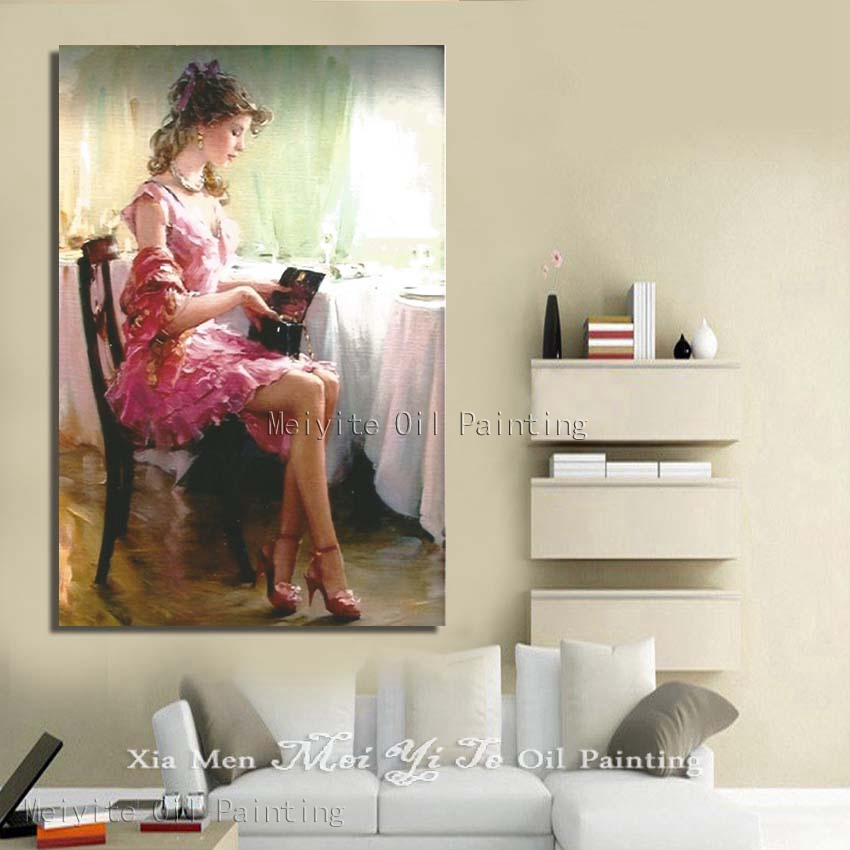 High Heels Beautiful Women Wall Picture For Bedroom Hand Painted Cheap  Modern Canvas Art Wall Decor In Painting U0026 Calligraphy From Home U0026 Garden  On ...