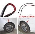 Opel astra h gtc/j protetor labial roda sobrancelha roda de carro fender flare 2pc117cm-arch trimfor