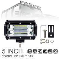 5 Inch 72W 10800LM Waterproof Durable Modified Auto Car Top LED Light With Two Rows Light