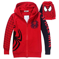 Retail Children's Coat Boys Spiderman Embroidered Hoodie Jackets Kids Cartoon Clothes Baby Boys Outerwear