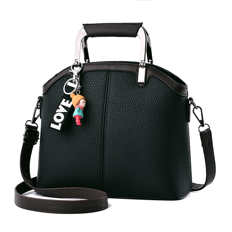 2017 winter novelty shell bag PU leather solid color one shoulder bag bried casual metal handle tote handbag all-match woman bag 2015 new arrival color match leather lolita bag novelty shaped shoulder bag piano key handbag with embroidery and badge