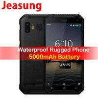 JEASUNG P8 Водонепроницаемый 4G прочный мобильный телефон ip67 ip68 4G противоударный 32 Гб Встроенная память смартфона 5 дюймов 5000 mah отпечатков пальц