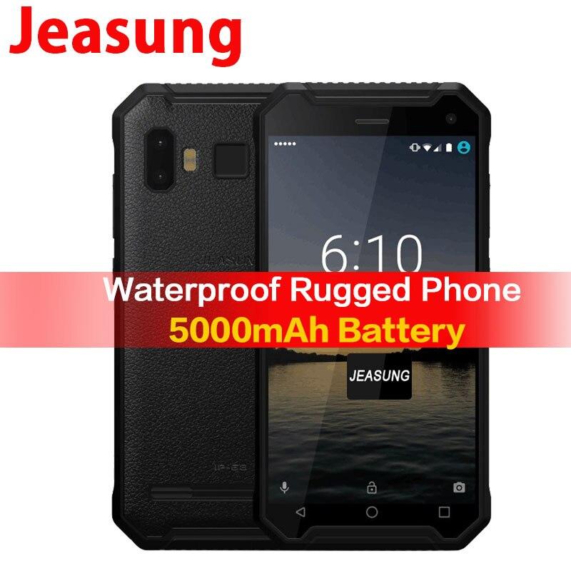 JEASUNG P8 Wasserdicht 4g Robuste handy ip67 ip68 4g Stoßfest 32 gb ROM Smartphone 5 zoll 5000 mah Fingerprint S10