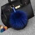 Натуральный мех мяч пакет кулон брелки 15 см твердые круглые Прекрасные пушистые мужская енота ПОМПОНОМ мяч брелки любителей женщин подарок