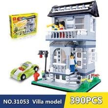 Wange model building kits compatible with legoe city villa 1046 3D blocks Educational model & building toys hobbies for children