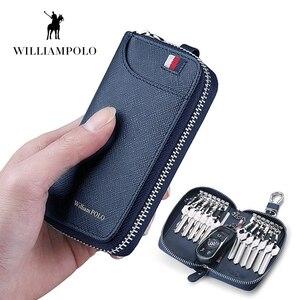 Image 2 - WILLIAMPOLO キー男性 16 ホルダー 100% リアルレザージッパー閉鎖キー財布キー OrganizerPL186117