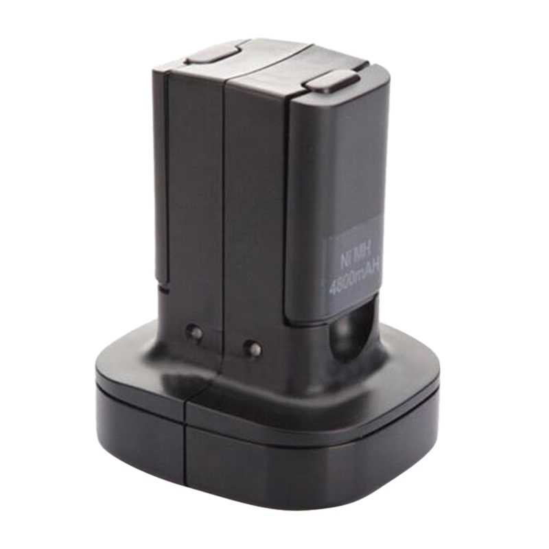 AABB-Dock Station Caricatore Doppio Con 2Pcs 4800Mah Batteria Ricaricabile Led Luce di Ricarica Per Xbox 360 Controller 360 spina di ue