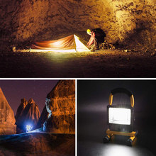Outdoor 30W Flood Light Portable Rechargeable LED Lamp Camping Car Warning Light UK Plug(China)