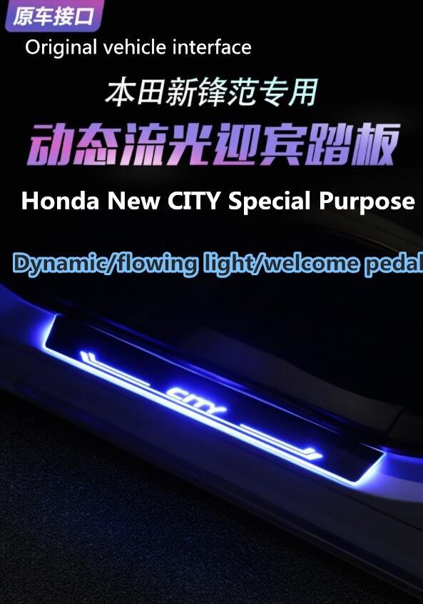 Pédale de bienvenue adaptée à la ville Honda réaménagée pour la décoration de matériel acrylique de LED de ville 13-19