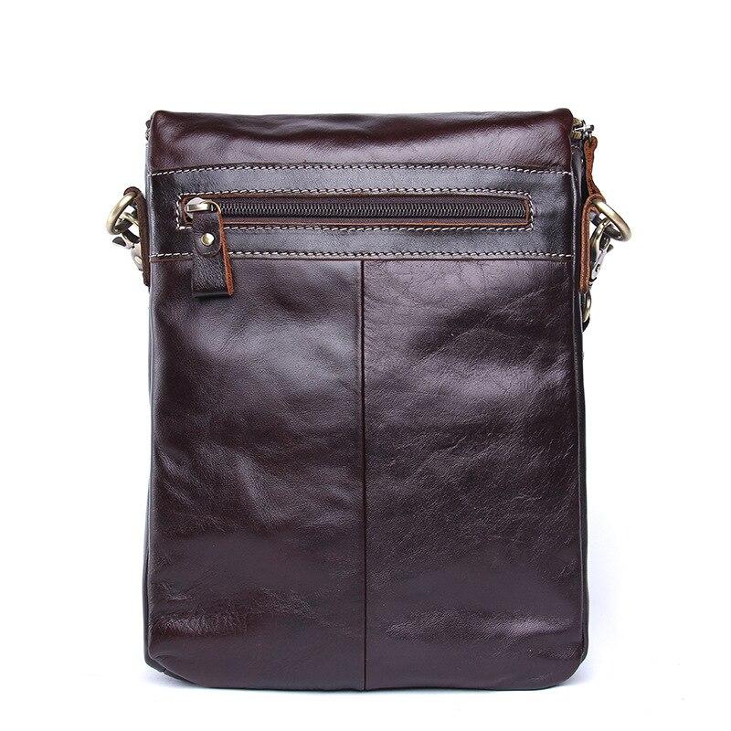 Bolsa para teléfono móvil de viaje de cuero genuino de calidad de lujo para hombre con tarjetero de bolsillo con cremallera para hombre - 2