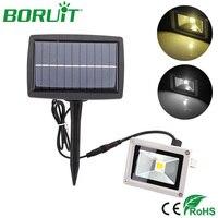 BORUiT 10W LED Solar Power Spot Flood Light Waterproof Garden Solar Lamp Outdoor Spotlight Lawn Lamp