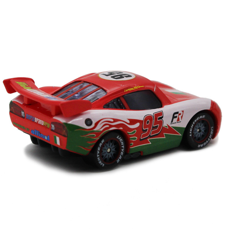 Disney 100% Original Pixar Cars Diecast NO.95 Red Italy McQueen Metal Toy Car 1:55 Loose Brand New Alloy Car Toy for Kid