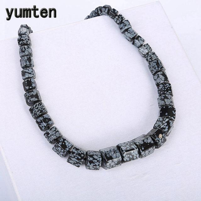 Yumten Alabaster mężczyźni Kolye kobiet gwiazda duży naszyjnik oświadczenie kamień naturalny kryształ hurtownie spersonalizowana biżuteria równowagi prezent