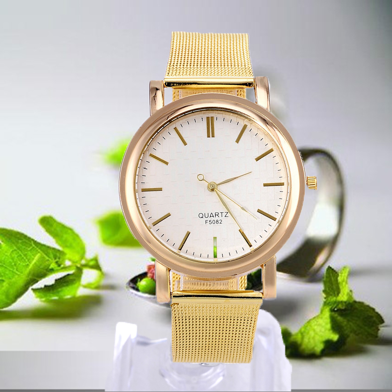 New Business Dress Watches Men Women Quartz Fashion & Casual Stainless Steel Unisex Brief Luxury Clocks Elegant Wristwatch Gfit rosra brand men luxury dress gold dial full steel band business watches new fashion male casual wristwatch free shipping