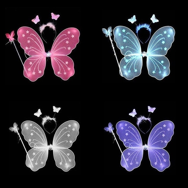 Set of Glitter Fairy Wings