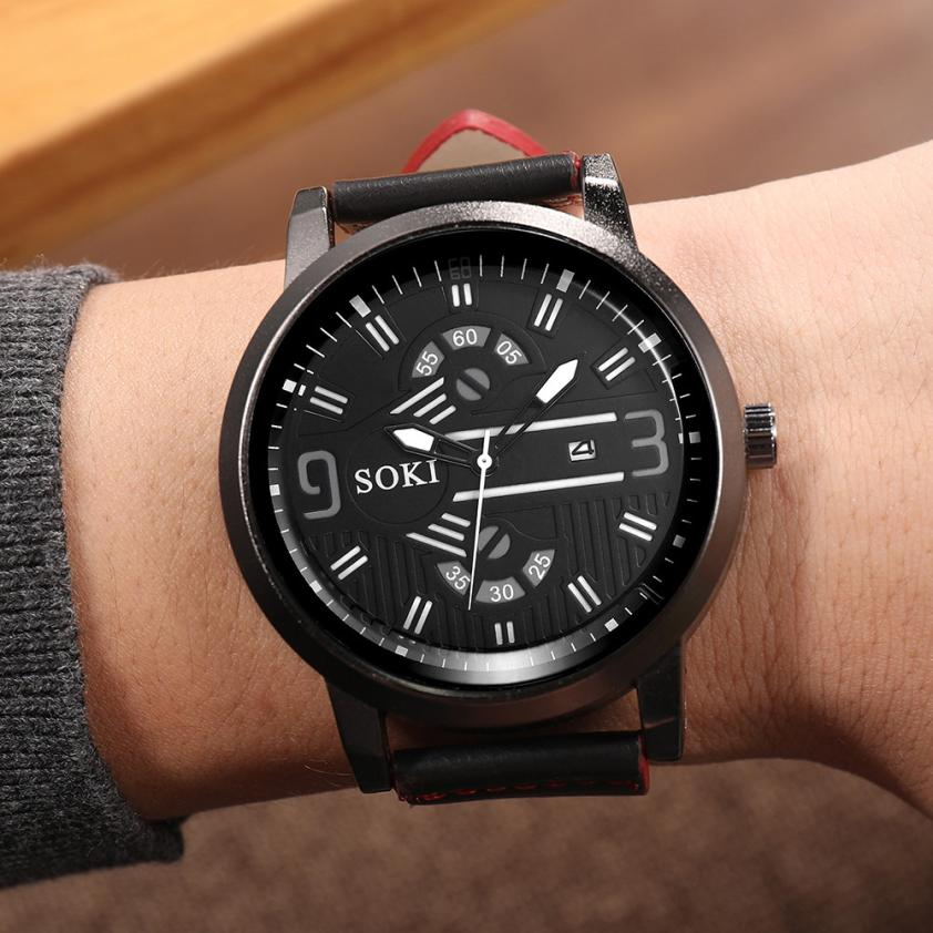 2019 New Arrival Fashion Men Watches Top Brand SOKI Luxury Mens Quartz Analog Watches Watch relogio masculino erkek kol saati analog watch