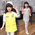 2017 Kid girl long section jacket spring children Bala baseball cotton clothes coat