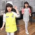 2017 da menina do Miúdo crianças primavera jaqueta longa seção Bala roupas de algodão casaco de beisebol