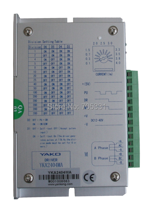 Original 2-phase CNC stepper motor driver YKA2404MB original 2 phase cnc stepper motor driver ykc2405m