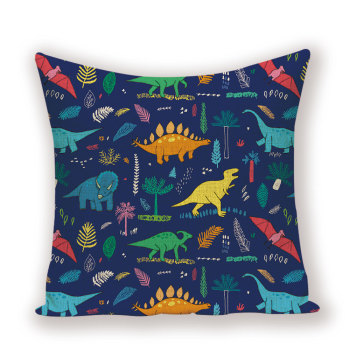 Blue Dinosaur Cushion Cover  1