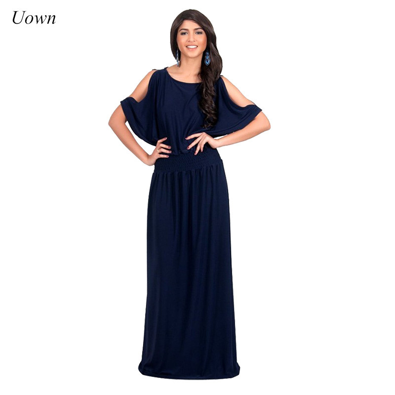 Bluffton sexy off the shoulder party princess sleeve maxi dress sell