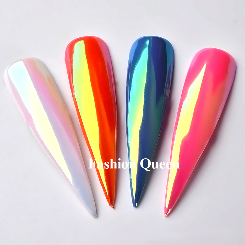 Top Neon Glitter Unicorn Καθρέφτης Νυχιών 0.2g - Τέχνη νυχιών - Φωτογραφία 4