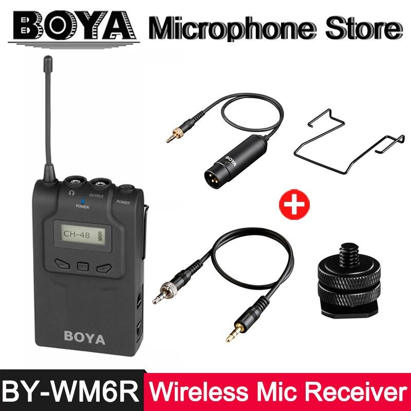 BOYA BY-WM6R UHF Sans Fil Microphone Récepteur ÉCRAN OLED pour BY-WXLR8 BY-WHM8 BY-WM8T BY-WM6T Émetteur ENG PEF Entrevue
