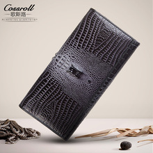 Ladies Genuine Leather Wallet Women Luxury Brand Female Clutch European and American Style Alligator Women Wallets and Purses