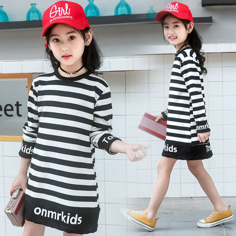 2018 new Kids Striped Cotton T-shirt Children Clothing Baby Girls Spring Autumn Long Sleeve Tops Tees Infant Casual Clothes
