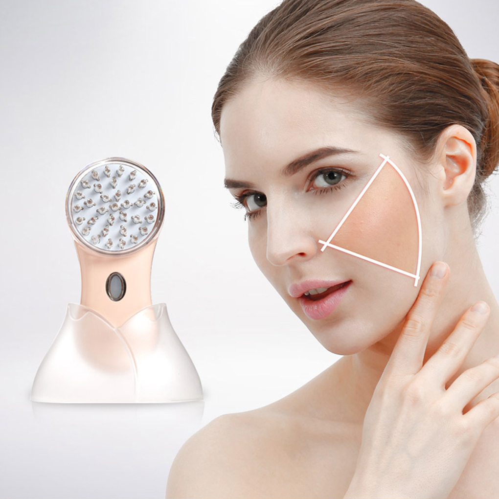 Whitening Acne Remove Face Massager Portable Skin Care Device Red Blue LED Light Beauty Equipment bio wave red blue yellow green led photon light skin therapy whitening tightening acne treatment facial beauty massager machine