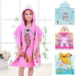 Детское банное полотенце с капюшоном, пончо, детский банный халат, банный халат, быстросохнущее впитывающее полотенце из микрофибры для пут...